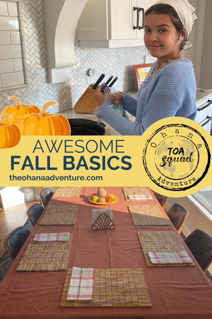 Awesome Fall Basics