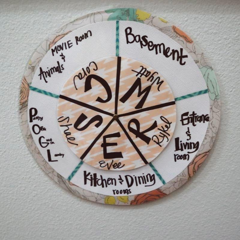 Chore wheel finished