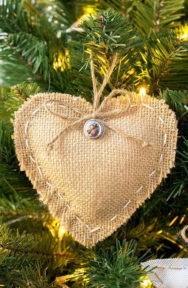 DIY Burlap Christmas Ornament via thecraftingnook