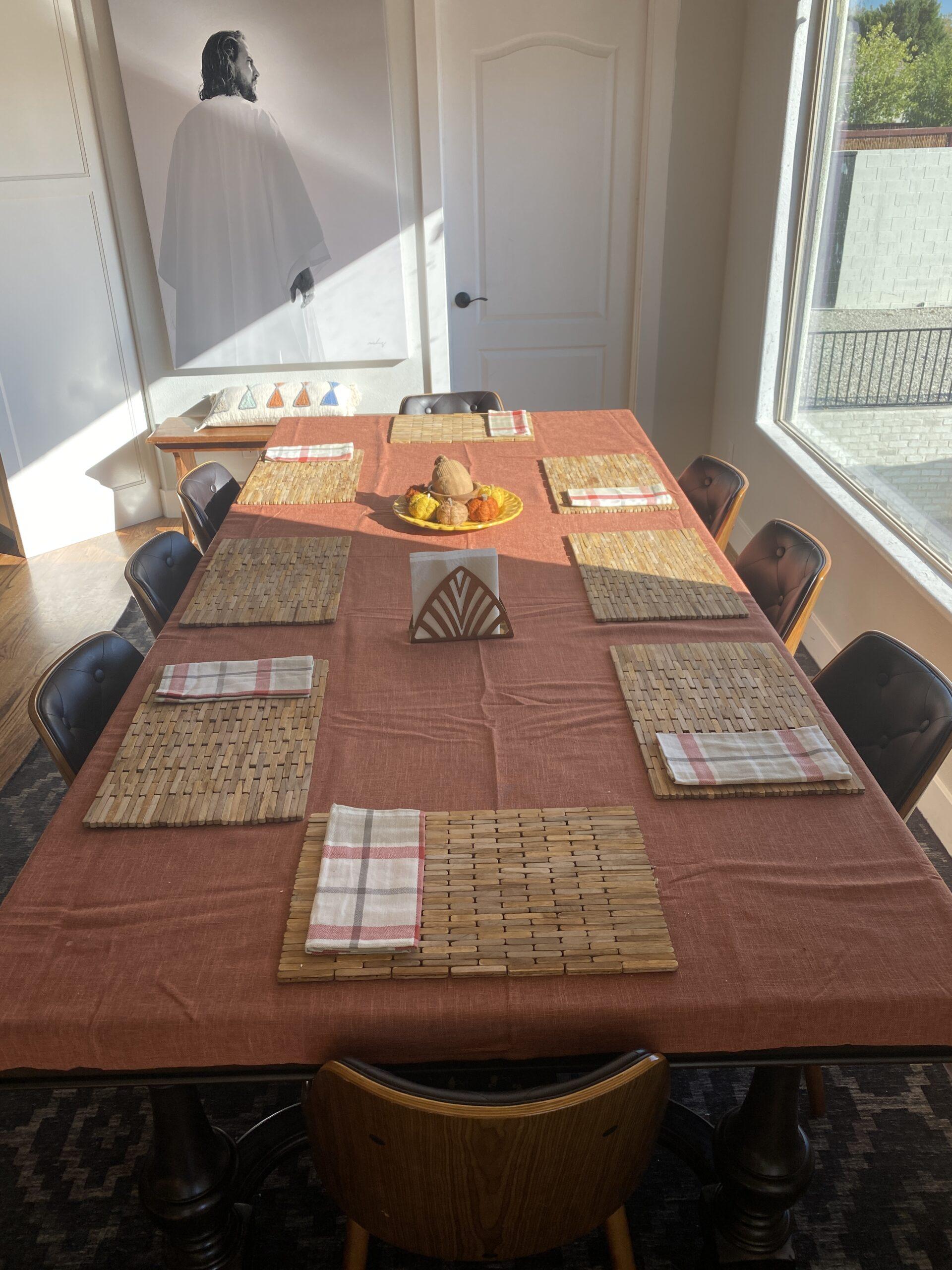 Fall table cloth