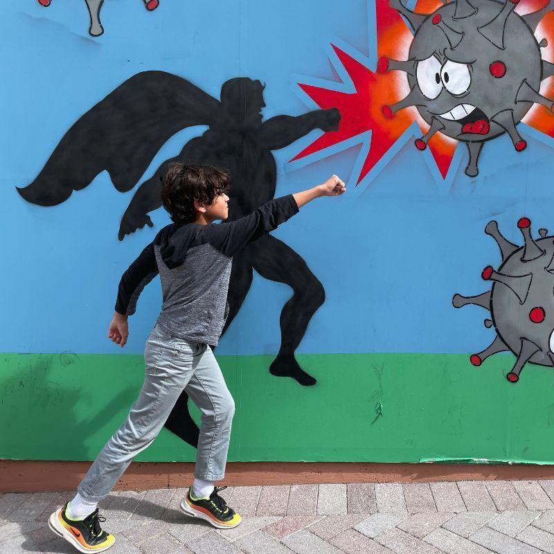 Graffiti Wyatt Posing