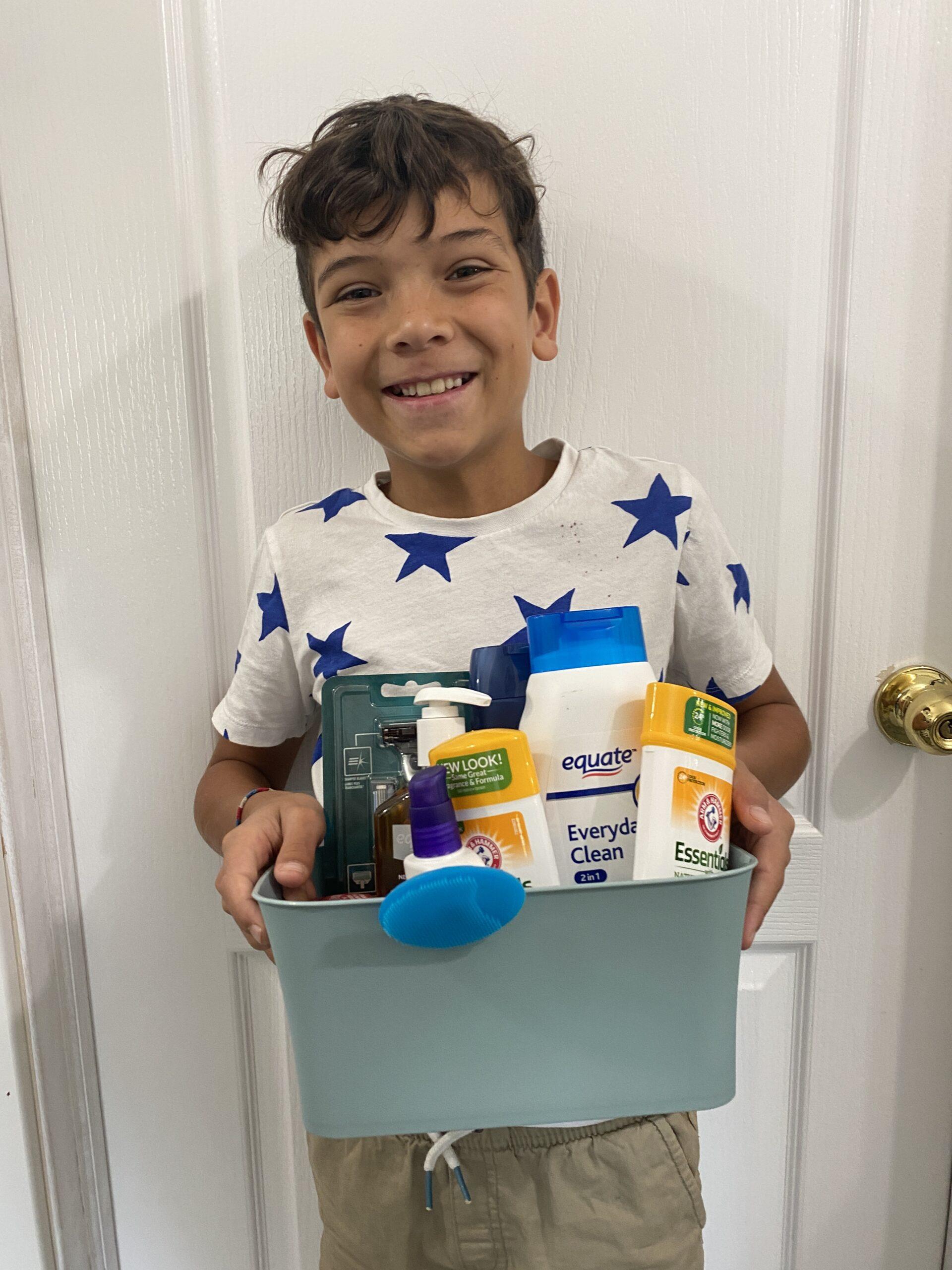 Wyatt with puberty kit