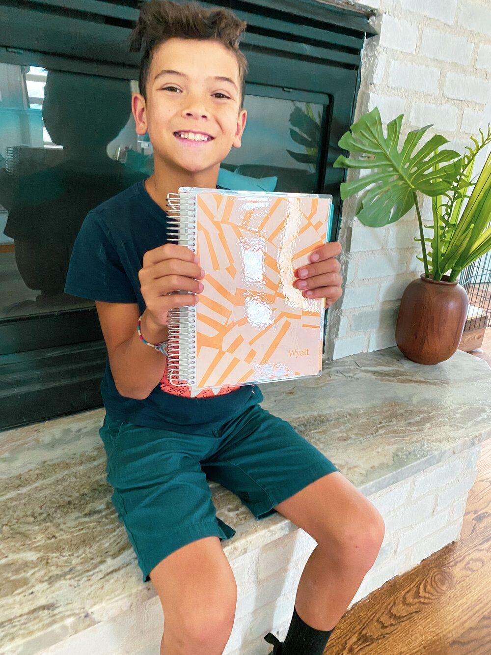 Wyatt's school planner