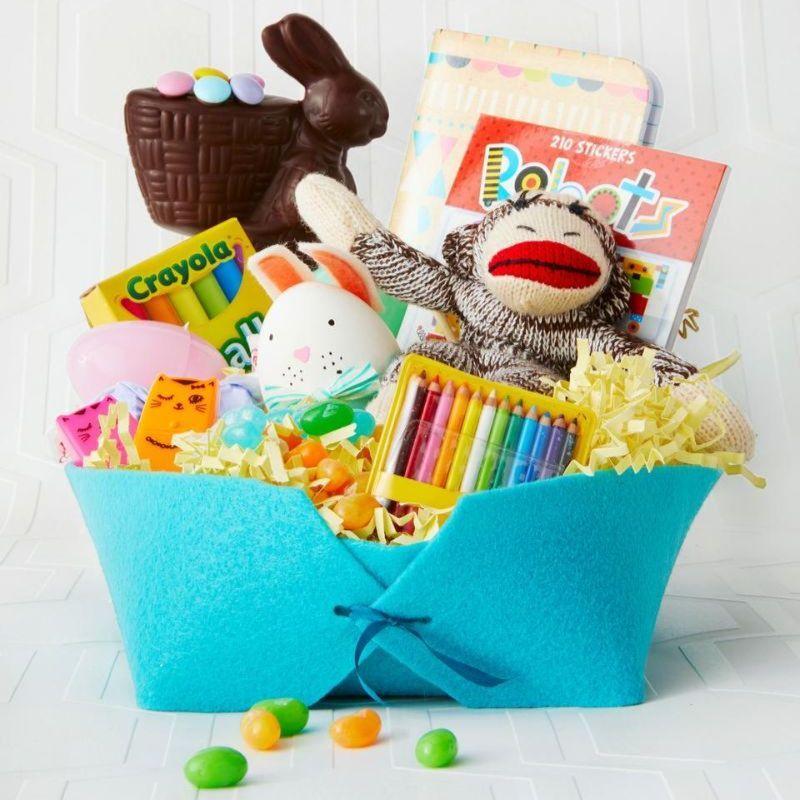 art supplies easter basket