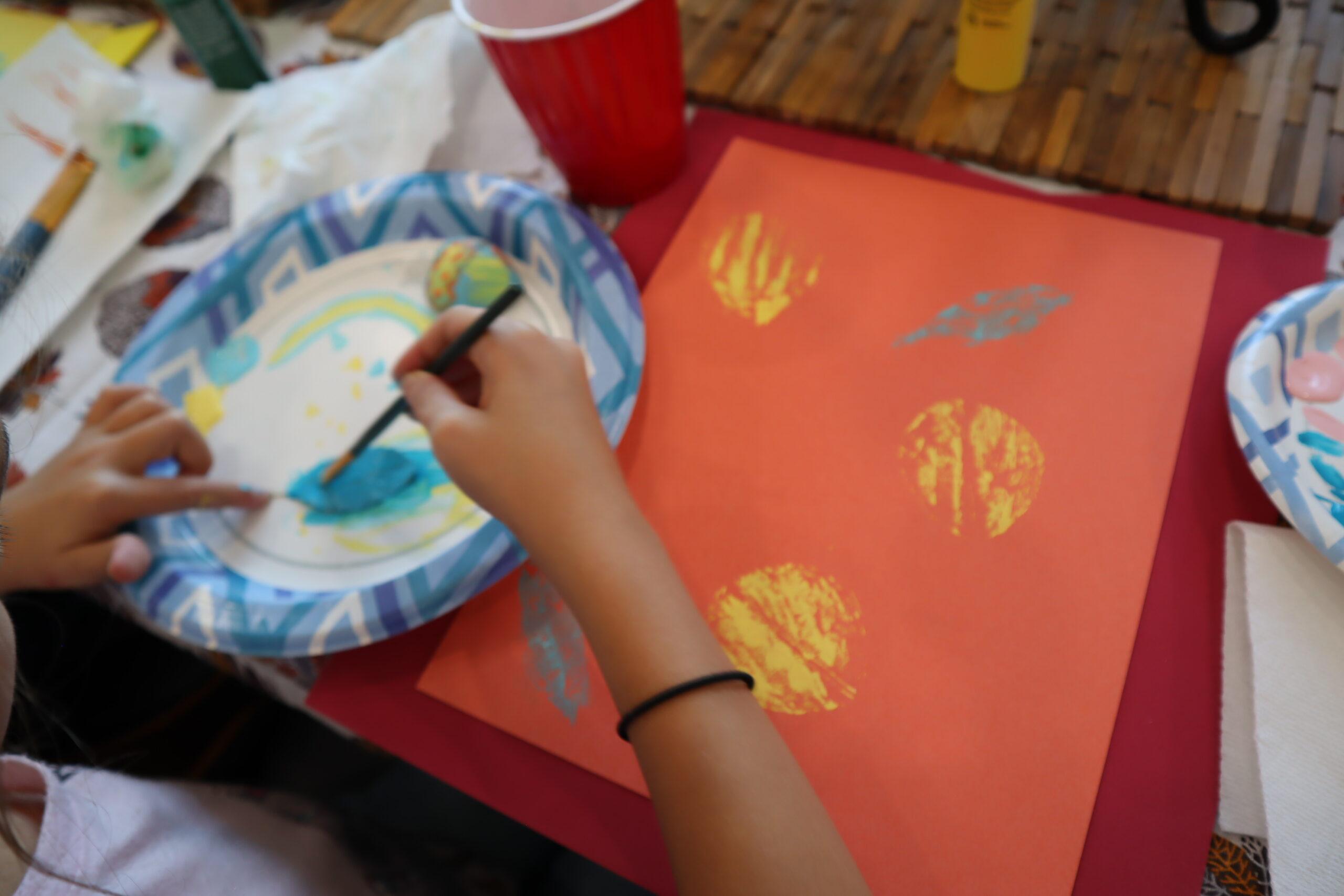leaf mural craft
