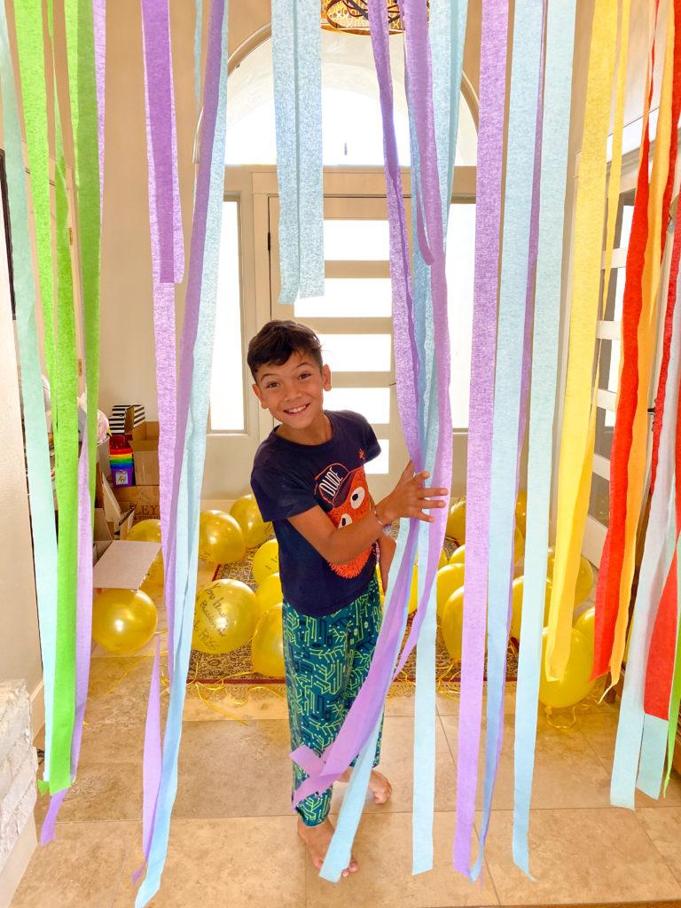 decorating with streamers for wyatt birthday 2020