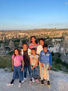 panorama view of cappadocia city